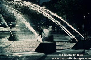 Children playing in fountain, Portland, Oregon (copyright Elizabeth Buie)